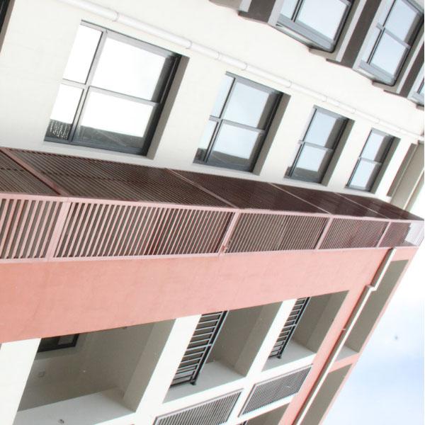 石家庄外墙铝合金百叶窗案例